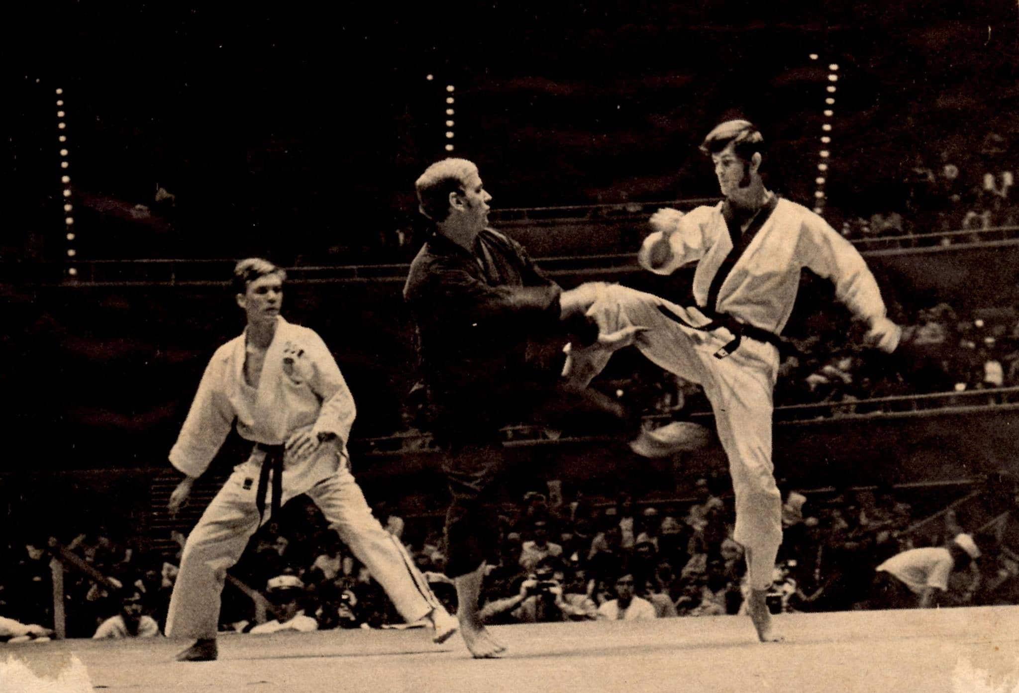 Found of National Karate Jim Butin Competing